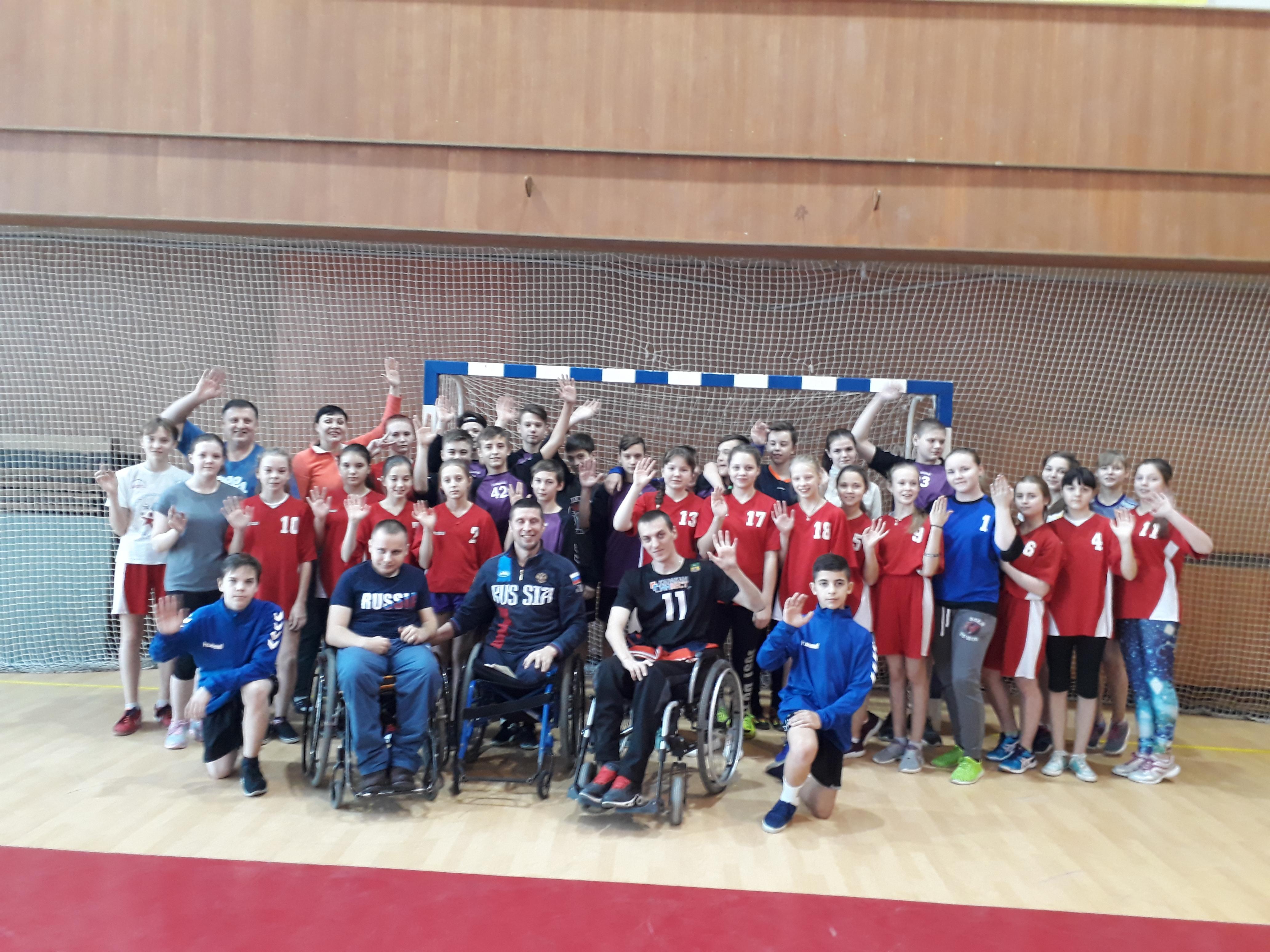 Встреча с победителями Чемпионата России по регби на колясках лиц с поражением опорно-двигательного аппарата
